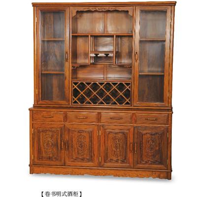 卷书明式酒柜 刺猬紫檀 158*55*76(196) 斯尔摩红木