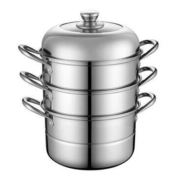 Debo德铂三层不锈钢蒸锅汤